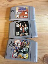 Nintendo 64 Lot Lot Kobe Bryant NBA court side, NFL Quarterback & WE War Zone