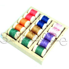 1 inch Dollhouse Miniature wooden Sewing Thread Box 1to12 Scale with Thread Coil