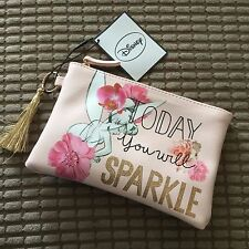 Disney TINKERBELL Fairy Glitter Make-Up Toiletry Cosmetics Bag Primark BNWT