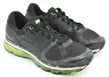 MENS NIKE AIR MAX + 2010 RUNNING SHOES SIZE 11 GREEN PACK VOLT BLACK 386368 010
