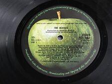 THE BEATLES WHITE ALBUM 1968 UK 1st. PRESS *STEREO* British Invasion (2) LP Set