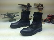1994 WOLVERINE BLACK LEATHER MILITARY STEEL TOE MOTORCYCLE LACE UP BOOTS 6R