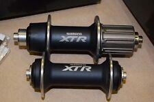 Shimano XTR FH HB M970 hub set 32 holes 8-10 speeds Rim brake anthracite NIB NOS