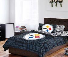 Pittsburgh Steelers Queen Comforter & Sheets, 5 Piece NFL Football Bedding, NEW!