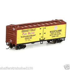 Roundhouse # 85580 40' Wood Reefer, W&W/Jersey Gold # 1050 Ho Mib