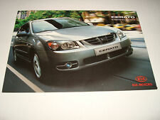 KIA CERATO UK SALES BROCHURE MAY 2004 NEW, OLD STOCK