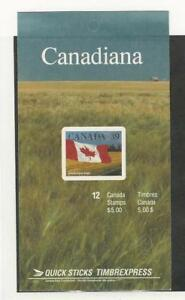 Canada, Postage Stamp, #1192a Mint NH Booklet, 1988 Flag (p)