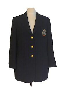 CERRUTI 1881 CLUB Vintage Navy Blazer...fits UK 12