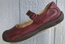 Womens Keen Mary Jane Flat Shoes Red Leather Size US 7