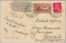 53968 - ITALIA REGNO - Storia Postale: Sassone POSTA AEREA 21 su CARTOLINA  1931
