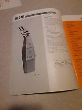 Vtg AKG Catalog/Brochure  Professional condenser dynamic Microphones Headphones