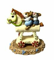 "Wee Forest Folk: ""Mousey Express"" Rocking Horse, Collectible,1993, M-65"