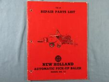 1952 New Holand Repair Parts List Manual for Automatic Pick-Up Baler Model # 77