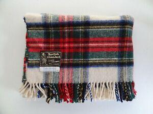 Bloomingdale Next Generation Scottish Glen Check Plaid Wool Throw Blanket VTG