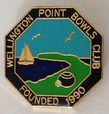 Wellington Point Bowling Club Badge Yacht Design Rare Vintage (M5)