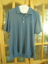 Lacoste soft 100% cotton Polo shirt size 3 med blue classic fit