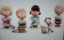 Lenox It'S The Easter Beagle Charlie Brown Peanuts Five Figurine Set Coa Nib