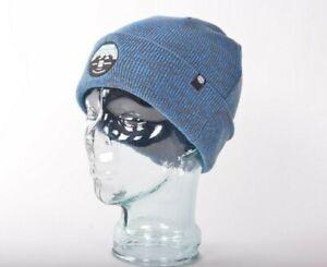 NWOT 686 MELANGE BEANIE $25 O/S Blue Acrylic Knit snowboard