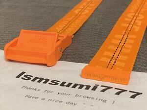 Orange Off White Belt Tie Down Big Iron Head Industrial Belt Unisex 200CM