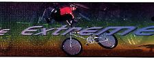 Free Wheeling Extreme Biking Sports Rainbow 3 Rolls 30' Wallpaper Wall Border