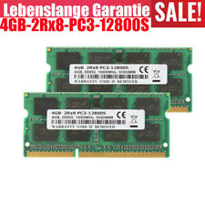 2X 4GB DDR3 RAM SO-DIMM PC3-12800S 2Rx8 1600 MHz 1.5V Laptop Speicher NEU @CM