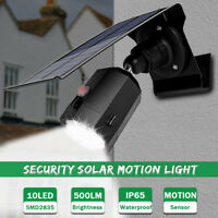 Solar Powered  Flood Light PIR Motion Sensor Garden Wall Lamp Spotlight Light