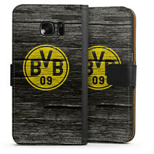 Samsung Galaxy S7 Tasche Hülle Flip Case - BVB Holzoptik