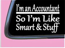 """Accountant Smart Stuff TP 314 Sticker 8"""" Decal accounting cpa tax software"""