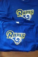 Los Angeles Rams Critical Victory Logo Blue Golden Yellow T Shirt