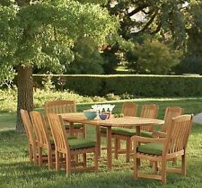 Devon GradeA Teak 9pc Dining Mas 94 Oval Table 8 Chairs Set Outdoor Garden Patio