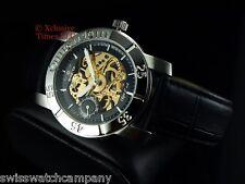 Invicta Men's 2048 Object D Art Automatique 18J Swiss Ebauche Leather Watch