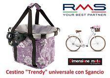 Cestino Universale Trendy Lilla Attacco Manubrio per Bici 20-24-26-28 City Bike
