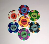 Paulson Top Hat & Cane Collector's Sample Set Casino Grade Poker Chips - *Rare**
