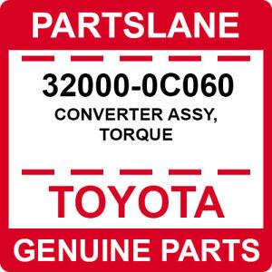 32000-0C060 Toyota OEM Genuine CONVERTER ASSY, TORQUE