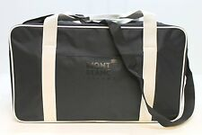 MONT BLANC PARFUMS BLACK LARGE TRAVEL / SPORTS / HOLDALL / DUFFLE BAG * NEW