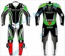 Customized Rider Motorbike Kawasaki Leather Suit Motorcycle Biker MotoGP 1/2 PC