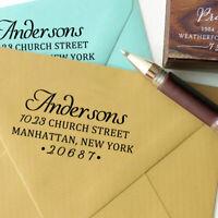 Self Inking Custom Return Address Stamp Personalized Rubber Stamp-Djw