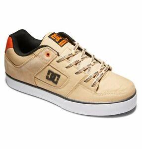 Mens DC Pure Skateboarding Shoes NIB Tan Brown    (TB2)