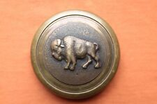 Vintage Rare Hand Made Solid Bronze and Copper Buffalo Belt Buckle