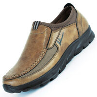 Fashion Men's Suede Leather Shoes Breathable Antiskid Casual  Loafers Moccasins