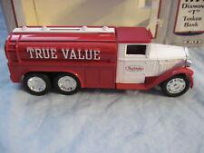 ERTL 1930 Diamond T True Value Tanker Truck MIB Diecast Bank