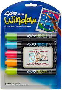 Dry Erase Neon Markers  Tip Dry Erase Markers Whiteboard Markers 5 Count