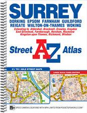 A-Z Surrey Street Atlas (Street Map, Spiral, 2017)