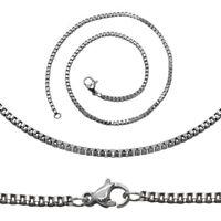 Damen Kette Halskette Zart Ø 1,8mm Gliederkette Schlangenkette Edelstahl Silbern