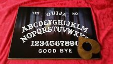 Wooden Ouija Board Bizarre Dark Forest light & Planchette Instructions Ghost ESP