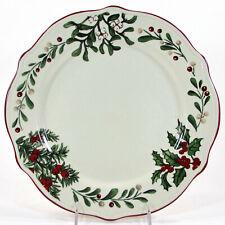 "NEW Better Homes & Gardens WINTER FOREST - GREENS 11.25"" Dinner Plate Heritage"
