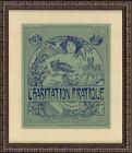 "Original 1909 Wood Engraving – Alfons Mucha – ""L'Habitation Pratique"" Cover"