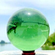 740g Natural Beautiful Green Crystal Quartz Bakk Coloured Glaze Point Healing