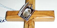 Sterling Silver Bible Book Locket Relic Church Gospels Verse Necklace Pendant AO