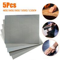 Wet / Dry Grinding Sand Papers 28*23cm 5pcs 400/600/800/1000/1200 Grit